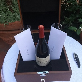 wine box and love letter